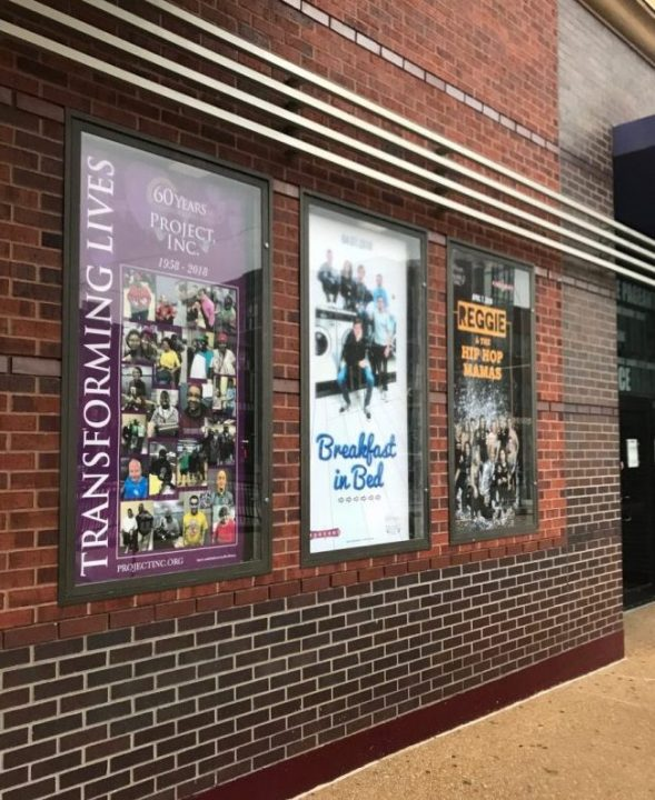 Marquee Posters outside The Pageant